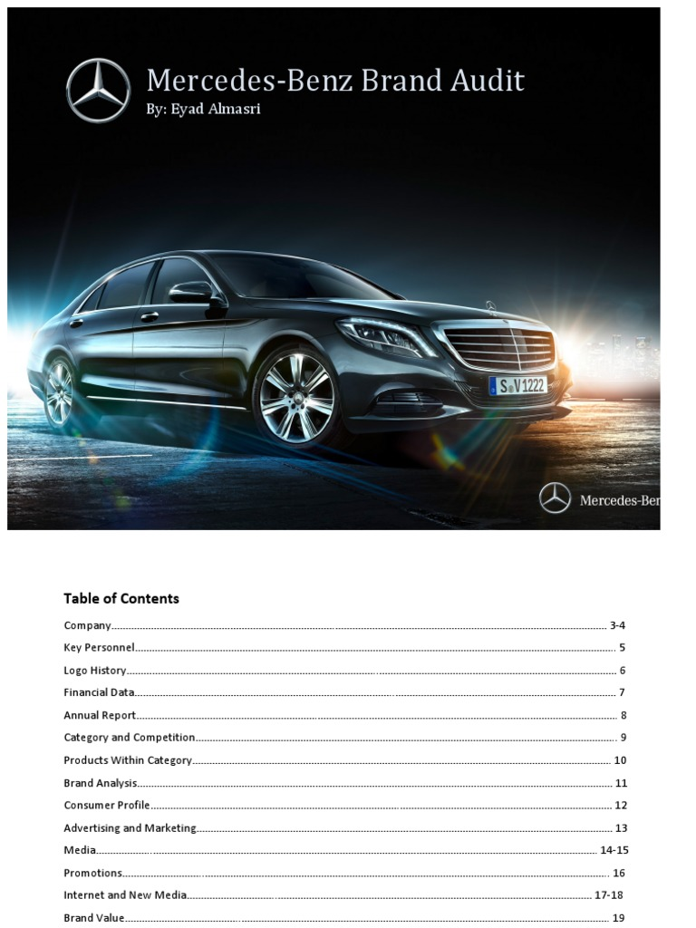 Mercedes benz brand audit mercedes benz daimler ag for Mercedes benz brand image