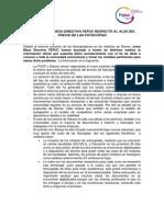 Comunicado de la MD FEPUC 2015 respecto al alza de precios de las fotocopias