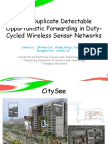 DOF- Duplicate Detectable Opportunistic Forwarding-slides