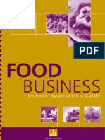 Guideline - Food Guideline - Food Business Licence ApplicationBusiness Licence Application