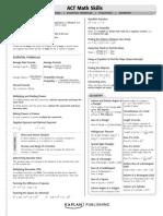 ACT Study Sheet