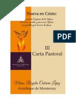 III Carta Pastoral - Vida Nueva en Cristo