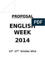 Proposal English Week 2014
