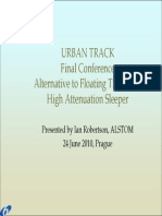 Alternative to floating slab track high attenuation sleeper by IAN ROBERTSON ALSTOM
