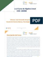 Presentacion Del Curso Algebra Lineal