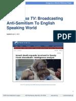 "ADL Report ""Attacking"" Press TV"