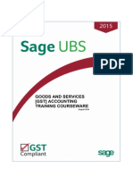 GST Accounting With Sage UBS