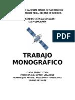 Monografía de Teledetección