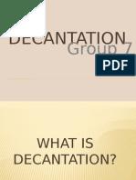 Decatation Method