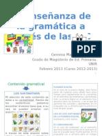 ENSEÑAR GRAMÁTICA CON PIZARRA DIGITAL_2013
