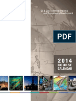 NExT Oil and Gas Course Calendar 2014