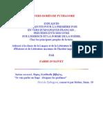 Fabre d Olivet - Les Vers Dores de Pythagore