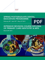 Spring 2015 Postgraduate Dental Education Programme