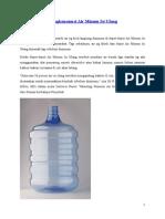 Mengkonsumsi Air Minum Isi Ulang