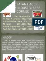 Penerapan Haccp Dalam Industri Beef Corned