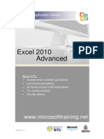 Excel 2010 Advanced Best STL Training Manual