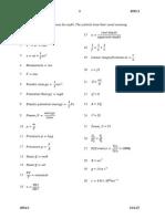 SPM Physics Formulae