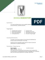 reshea rebenstorf wildlife rehabilitator resume