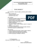 Proiectarea Unei Statii de Reglare-Masurare a Gazelor Naturale