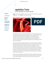 Coagulation Tests - AACC