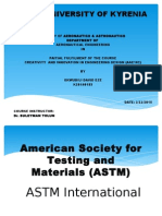 AMERICAN SOCIETY FOR TESTING AND MATERIAL (ASTM  International)