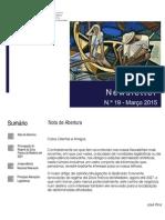 Newsletter CAMMP n.º 19 de Março de 2015