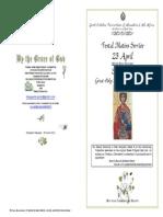 2015 - 23 APRIL - ST GEORGE _Matins Service & Div Lit Hymns