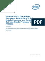 Core2 Duo Mobile 45nm Datasheet(1)