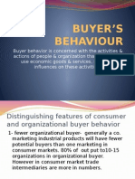 Sales Management :Buyer's Behaviour