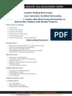 Automotive Design Internship_Curriculum