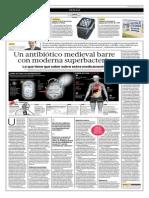 Un Antibiótico Medieval Barre Con Moderna Superbacteria