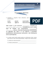 Ficha de Trabalho TIC 8 - Redes Sociais