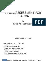 Initial Assessment for Trauma