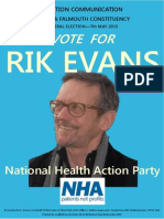 Election Address by Rik Evans of the National Health Action Party