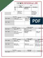2015 16 Timetable