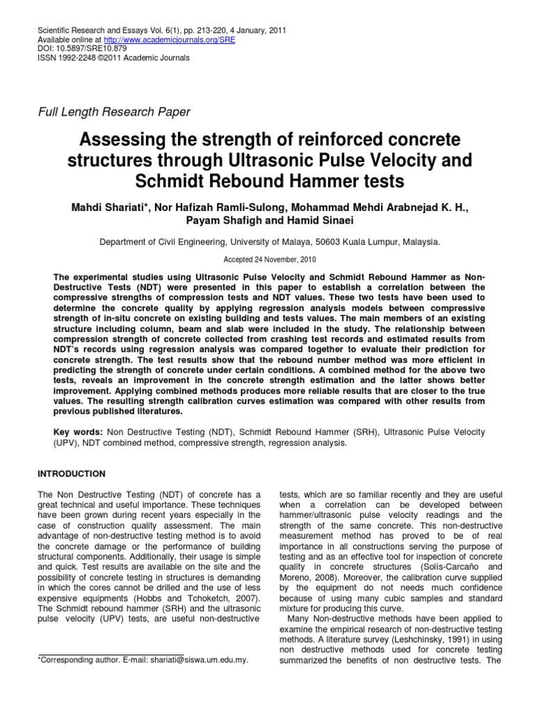 Assessing the Strength of Reinforced Concrete Structures Through