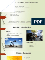 Petróleo, Derivados, Óleos e Gorduras