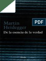 Heidegger, Martin - De La Esencia de La Verdad