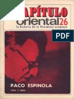 Capitulo Oriental 26- Paco Espinola