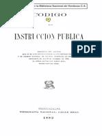 Código de Instrucción Pública de Honduras 1882