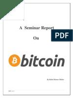 Bitcoin seminar report