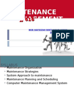 1.0 Maintenance Organization f