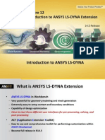 LS-DYNA-Intro 14.5 L12 Quick Guide to ANSYS LS-DYNA Extension