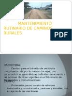 EXPOSICION MANTENIMIENTO RUTINARIO