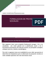 Formulacion de Proyectos Sociales 1