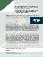 Legislação Estadual de Minas Gerais e a Legislação Federal Do Brasil Sobre o Instituto Do Tombamento