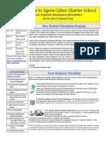 agora orientation newsletter  updated 4-6-15