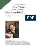 Eco- Diario vs Internet