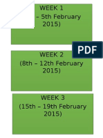 Weekly RPH Partitions