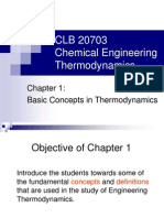 Chapter 1- Basic Concepts in Thermodynamics